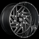 Hardcore - HC11 Axel - Gloss Black Milled