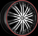 Crave Alloys - NO.01 - Machined Face Red Stripe