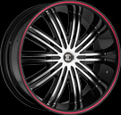 Crave Alloys - NO.07 - Black Machined Face Red Stripe