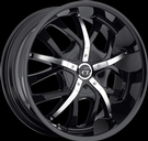 VCT - V67-Romano - Black Chrome Inserts