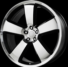 Wheel Replicas - V1150 Charger - Black & Machined