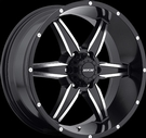 MKW - M89 - 6 Lug - Black & Machined