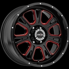 Vision - 399 Fury - Gloss Black Red Tint Windows