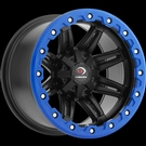 Vision ATV - 551 - Matte Black Blue Lip Armour