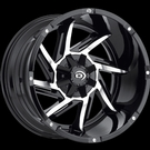 Vision - 422 Prowler 20X12 - Black & Machined