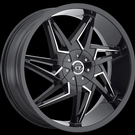 VCT - V74 - Gloss Black Milled