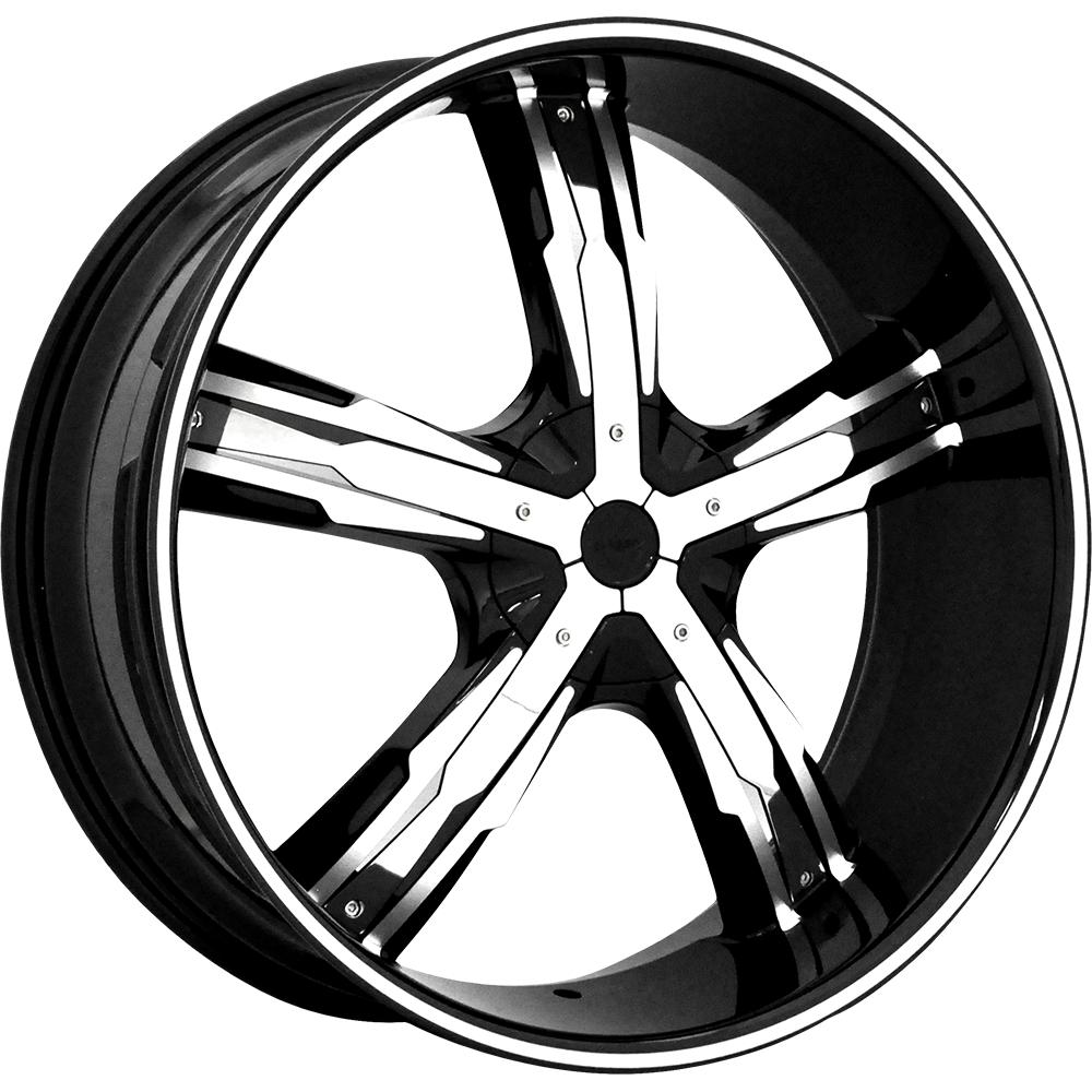 Wheel Resource Inc  - Massiv 917 Tusk - Black Chrome Inserts