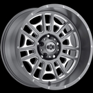 Vision - 418 Widow - Satin Grey Milled Spoke